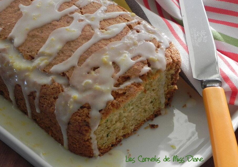 Pain ou cake au citron et à la courgette, sans gluten et sans lactose