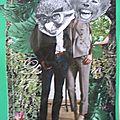 Marlène et Gaston jouent au ballon dans le Lubéron.