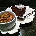 Biscuit de savoie cacaoté et sa mousse au chocolat aux éclats de noisettes