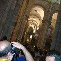 Le Botafumeiro à la fin de la messe-Cathédrale de St-Jacques de Compostelle