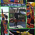 Housse pour berimbau (instrument musique)en wax - luanda - modèle enfant