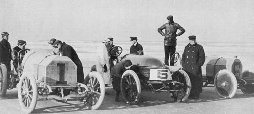 1905 ormond beach - willie k vanderbilt (mercedes), arthur mcdonald (napier), e r thomas (mercedes)