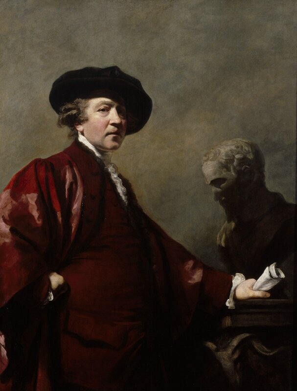 Sir Joshua Reynolds, Self Portrait, about 1780