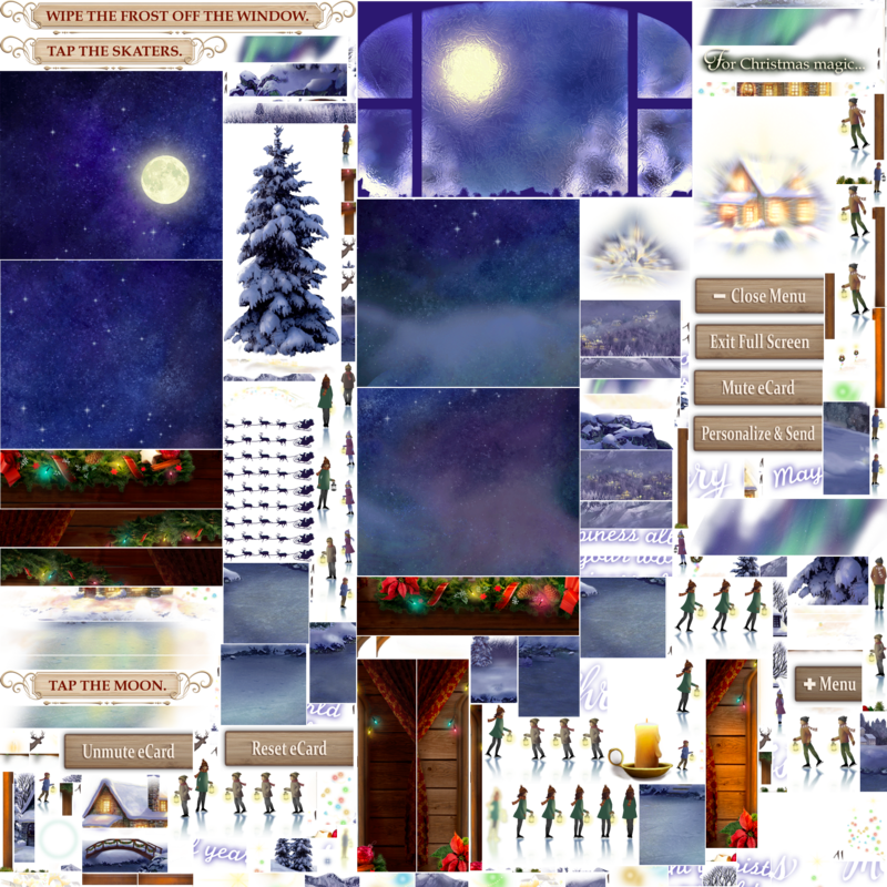 Christmas Spirit Interactive Christmas eCard Blue Mountain e-1