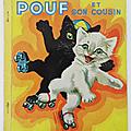 Livre ancien ... pouf et son cousin (1953) * les albums roses