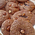 Cookies moelleux, tout chocolat