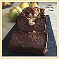 Cake châtaignes poires & noix sans gluten ( 190 cal/ par part)