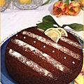 Gâteau au citron, huile d'olive et miel au citron de menton