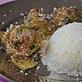 Boulettes épicées à l'indienne et à la noix de coco