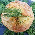 Gâteau au yaourt grec, crabe, aneth et curcuma