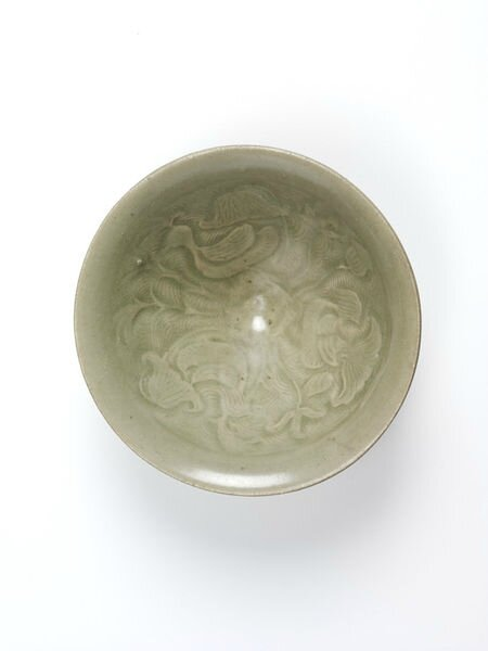 Bowl with moulded design of a duck in a lotus pond, Yaozhou ware, China, Northern Song dynasty (960-1127)