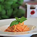 Spaghetti sauce poivron et mascarpone