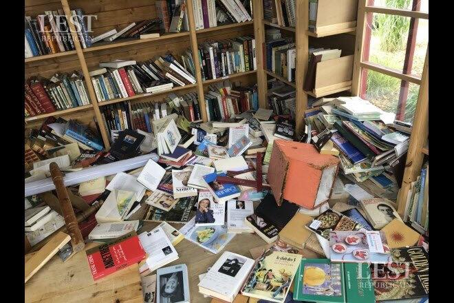 vandalisme chalet livres