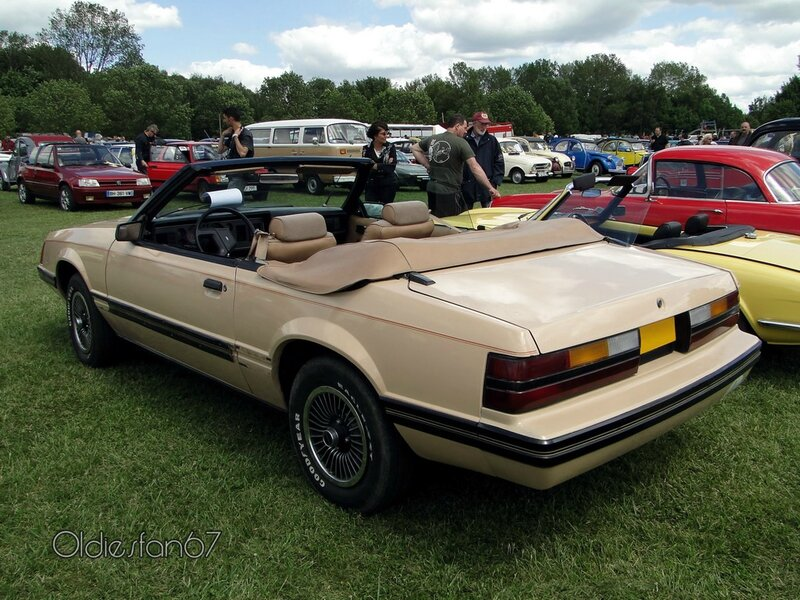 ford mustang convertible 1979 1986 b