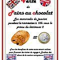Vente de pains au chocolat au profit du voyage à londres de la section européenne ts