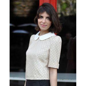 blouse-polka-beige-pois Les Composantes