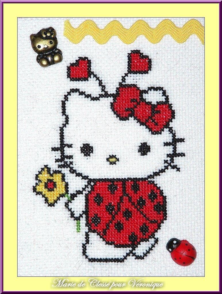 Échange ATC [Hello Kitty] Chez Brigitte (Les couleurs de Malina) Marie de Clessé pour Véronique 1