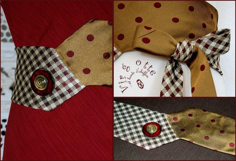 détails ceinture cravates