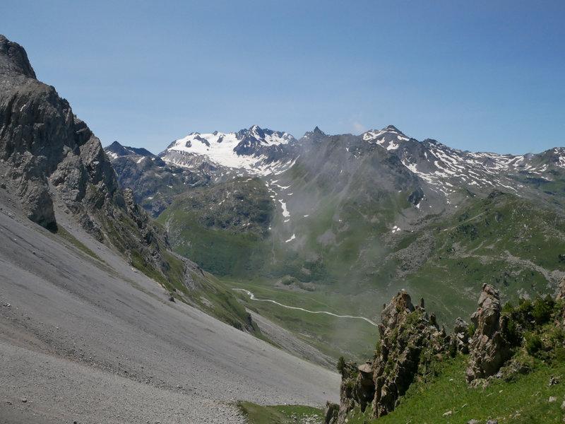Glacier de Gébroulaz, et Vallon du Fruit