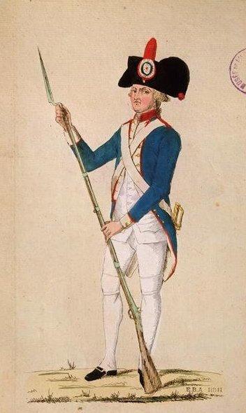 Le 4 avril 1790 à Mamers : uniforme de la garde nationale et report de la fête de la fédération.