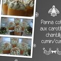 Panna cotta aux carottes, chantilly cumin/curry