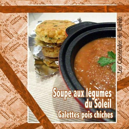 Soupe aux légumes du soleil galettes pois chiches (scrap)