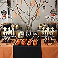 Sweet table- decorations pour table gourmande halloween