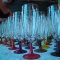 verres gravés et peint 55ans de mariage