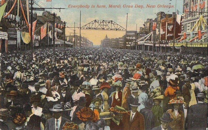 CPA Louisiane Mardi Gras 1930