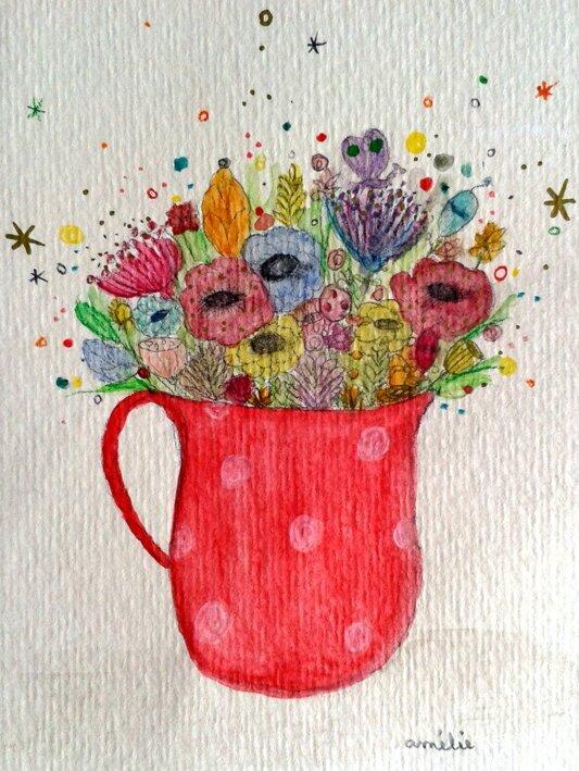 amelielaffaiteur_pichetrouge_fleurs