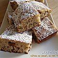 Gâteau au yaourt, au miel et aux noix