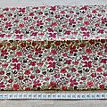 Coupon de liberty 50cm meadow framboise