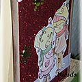 Carte bonne année rouge brillant couple profil