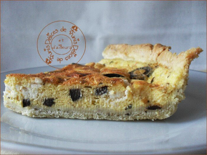 quiche feta - olives noires 2