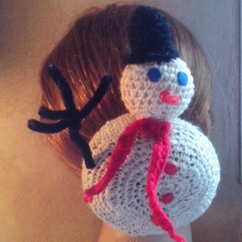 Chignon danseuse bonhomme de neige.