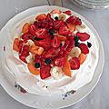 Pavlova (base meringue / chantilly et fruits)