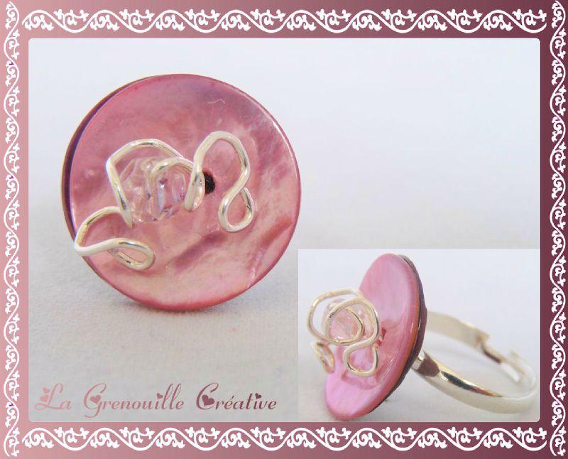 Bague nacre tourbillons rose (2)
