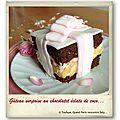 Gâteau surprise au chocolat et éclats de coco…