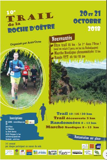 Affiche Trail de la Roche d'Oëtre 2018 _ 1