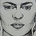 Portrait au feutre noir