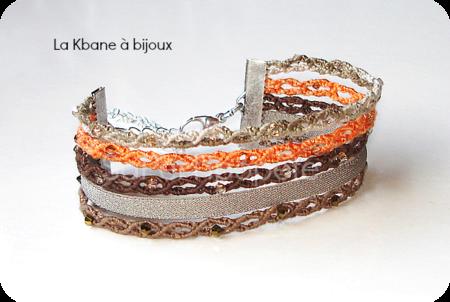 muestra de tejido bandes dégradées marron1