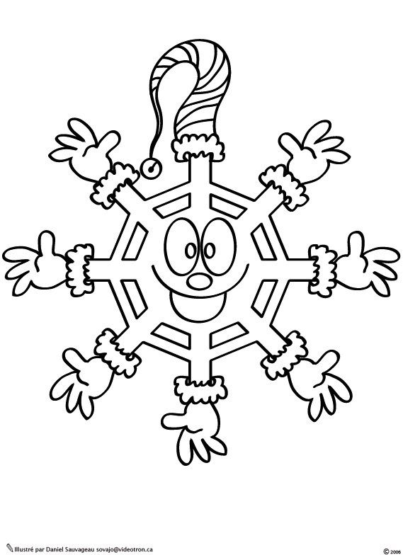 Flocon De Neige Rigolo Photo De Dessins A Colorier Coloring Pages Une Epagneule Raconte
