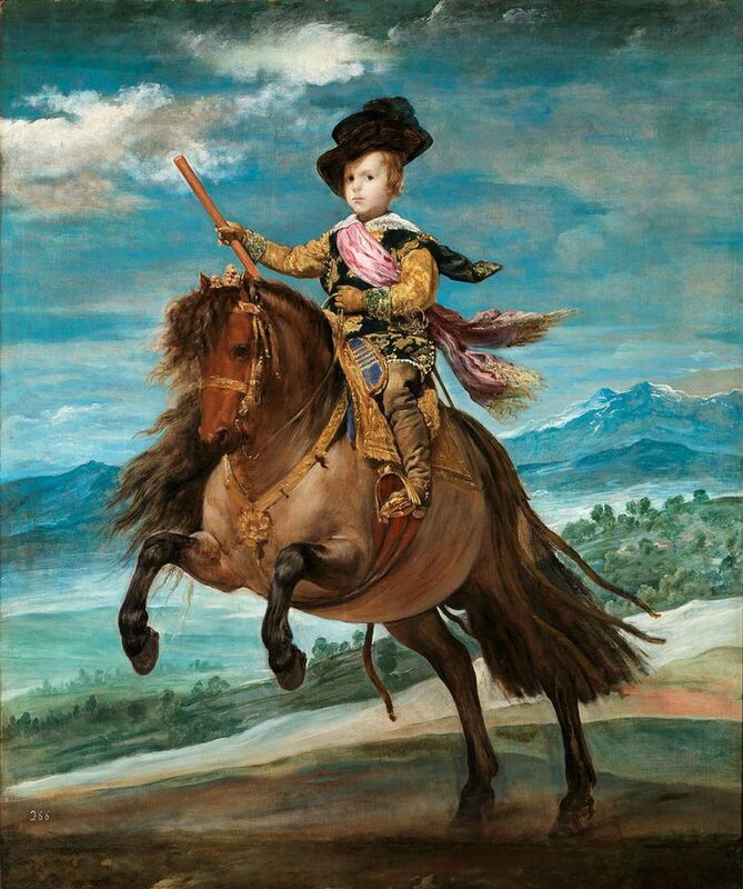 Diego Velazquez, Portrait de l'infant Baltasar Carlos sur son poney, 1634-1635