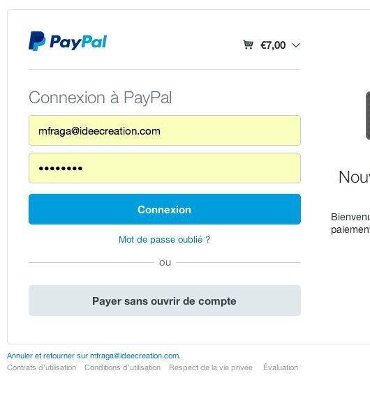 paypal paiement par CB