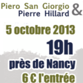 [conferences et rencontres utiles] 05/10/13 nancy : pierre hillard et piero san giorgio : comprendre le mondialisme