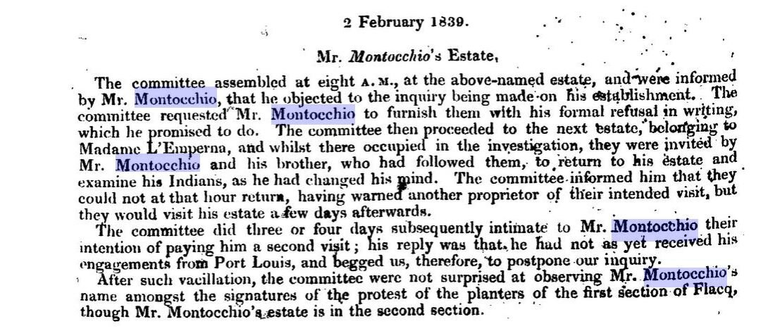 Montocchio_Domaines sucriers_Property Of The Late Nawab Of Surat_1839