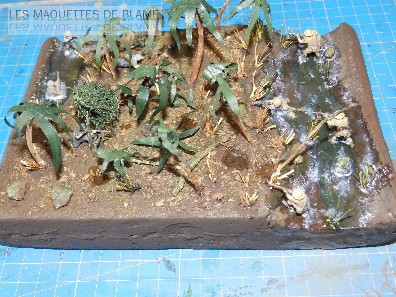 DIORAMA ESCARMOUCHE DANS LA JUNGLE MALAISE FINI!!!