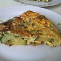 Fritatta aux courgettes, omelette italienne
