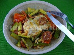 cabillaud au chorizo et légumes 04