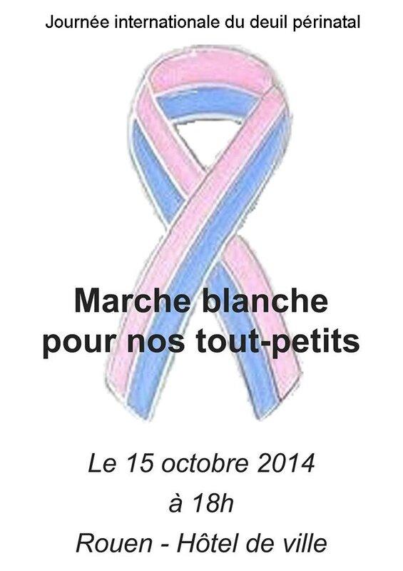 Marche blanche Rouen JIDPN